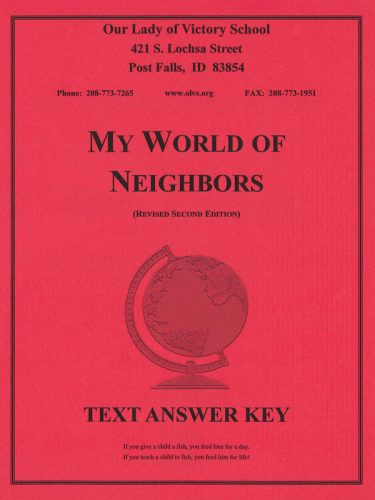 My World of Neighbors Text ANSWER KEY