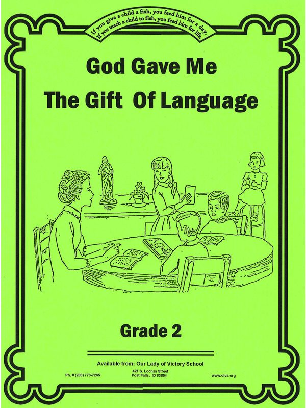 God Gave Me the Gift of Language 2 Workbook