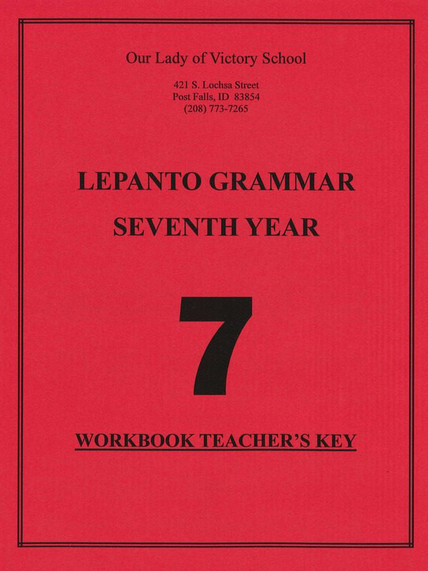 Lepanto Grammar 7 Teacher Key