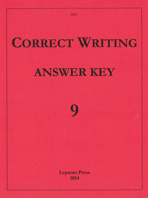 Correct Writing Answer Key
