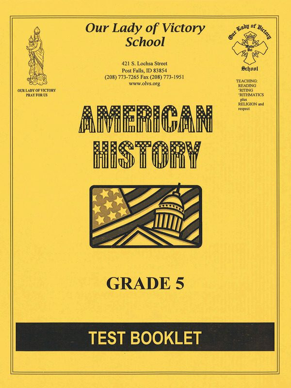 American History Test Booklet
