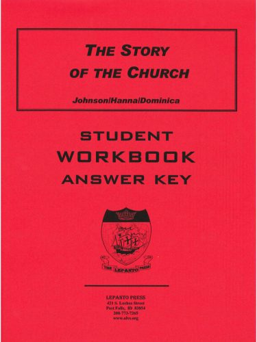 Story of the Church Workbook Answer Key