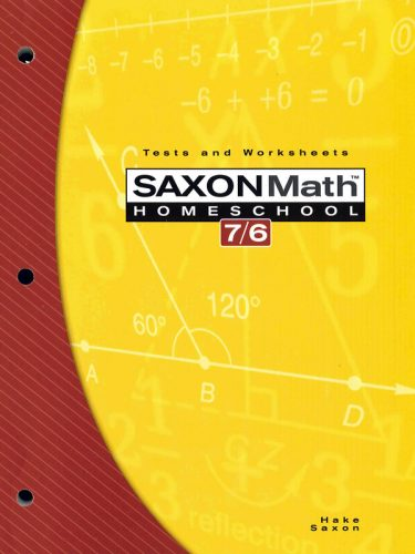 Saxon 7/6 Tests and Worksheets Book (4th edition)