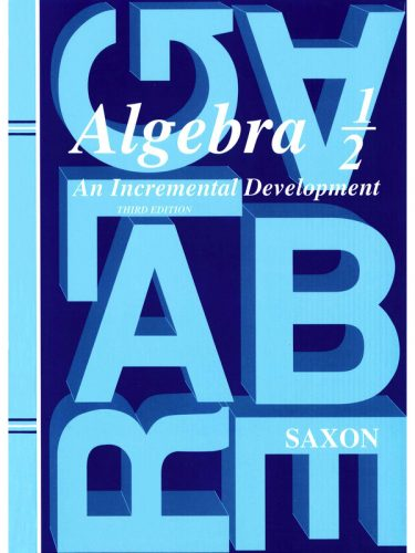 Saxon Algebra 1/2 Text