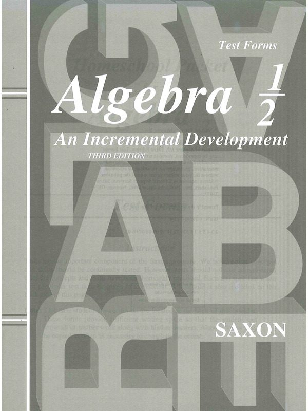 Saxon Algebra 1/2 Test Forms (3rd edition)