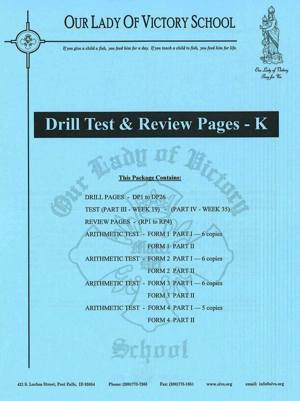 Drill Test & Review Pages K