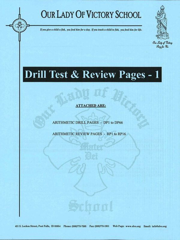 Drill Test & Review Pages 1