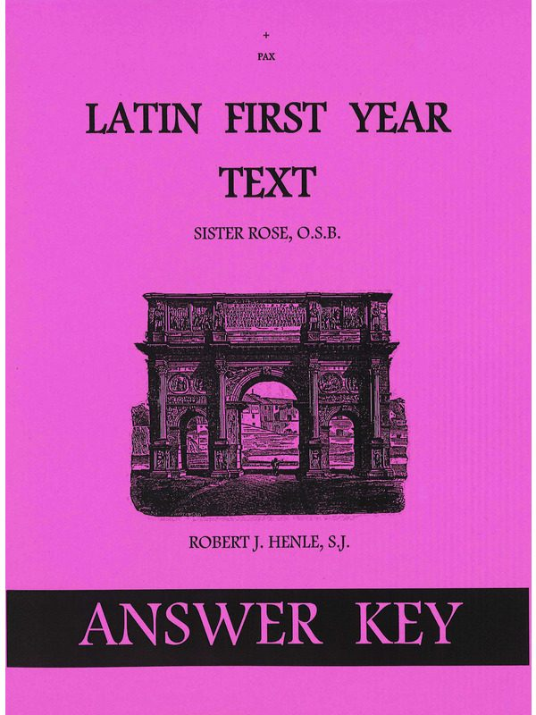 Latin 1st Year Text Answer Key