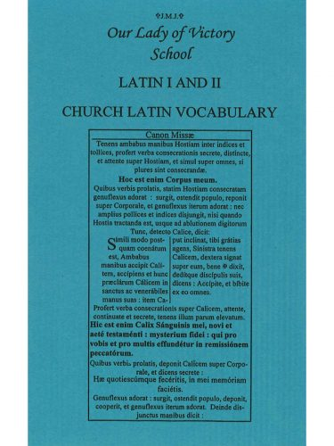 Latin I & II (Henle 1st Year) Vocabulary Booklet