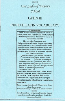 Latin III Vocabulary Booklet (Henle 2nd Year)