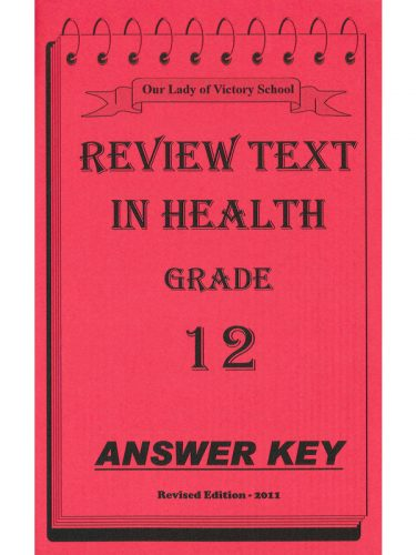 Review Text in Health Answer Key