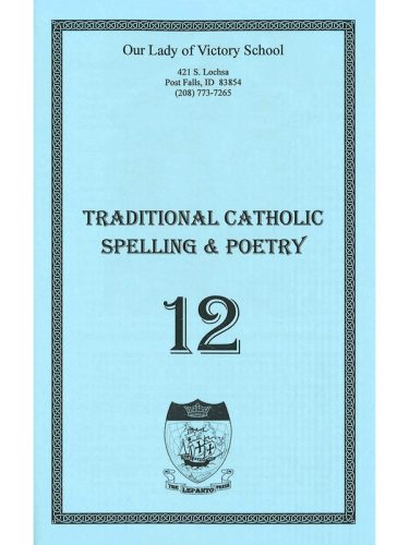 Traditional Catholic Speller #12