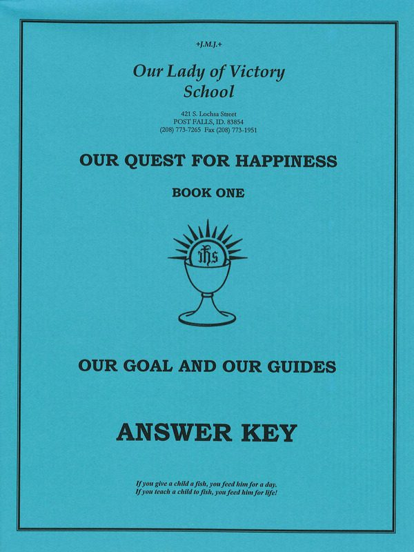 Our Goal & Our Guides Answer Key