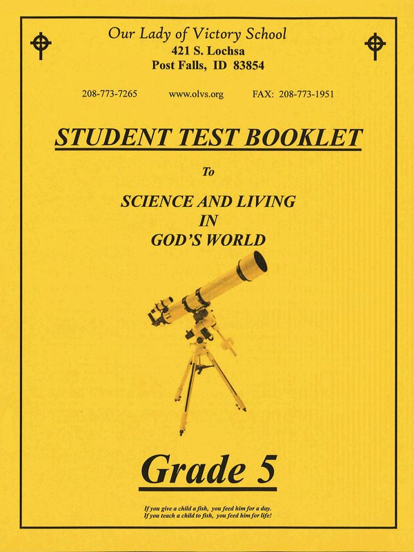Science & Living in God's World 5 Test Book