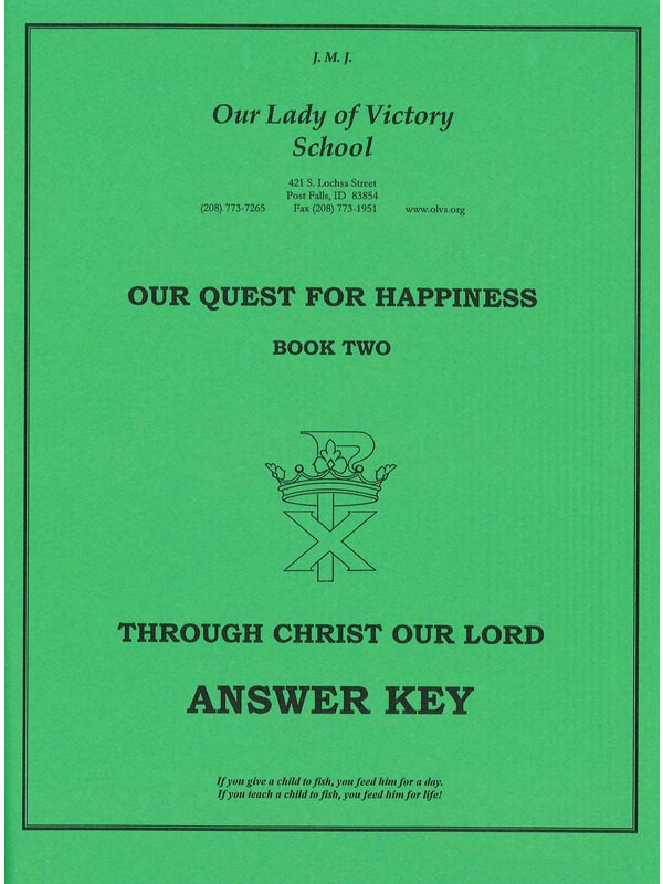 Through Christ Our Lord Answer Key