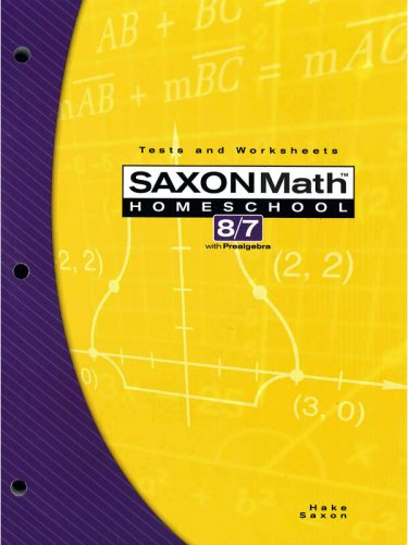 Saxon 8/7 Tests and Worksheets Book (3rd edition)