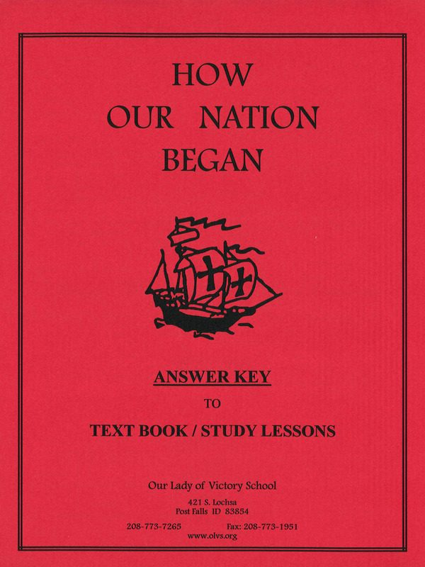 How Our Nation Began Text Book Answer Key