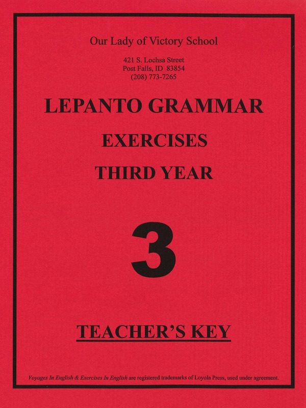 Lepanto Grammar 3 Teacher Key