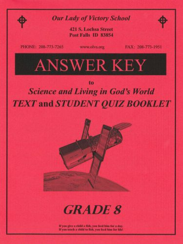 Science & Living in God's World 8 Answer Key
