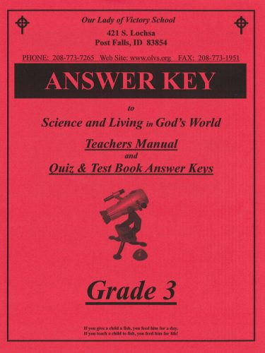 Science & Living in God's World 3 Teacher's Manual
