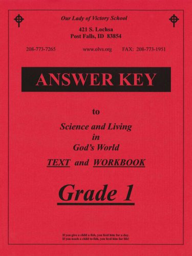 Science & Living in God's World 1 Answer Key