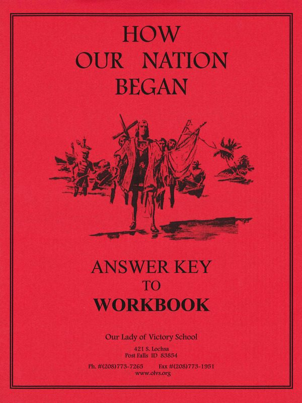 How Our Nation Began Workbook Answer Key