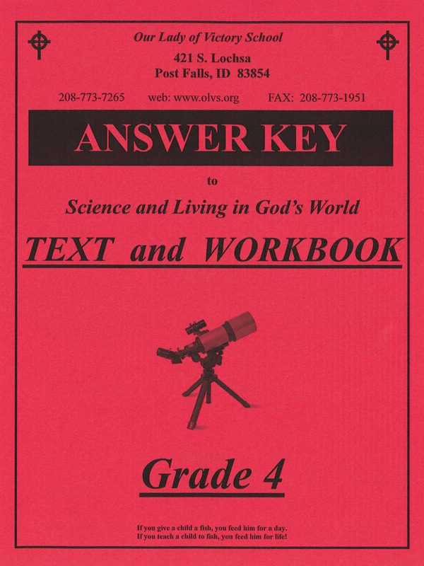 Science & Living in God's World 4 Answer Key