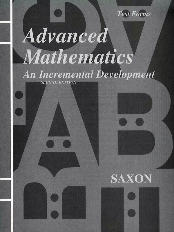 Saxon Advanced Math Test Forms (2nd edition)