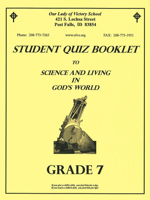 Science & Living in God's World 7 Quiz Booklet
