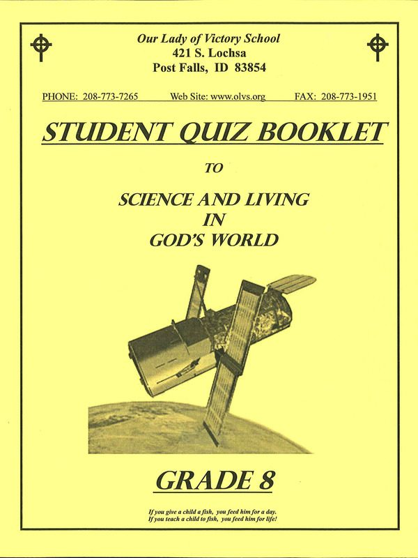 Science & Living in God's World 8 Quiz Booklet