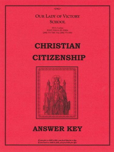 Christian Citizenship Answer Key