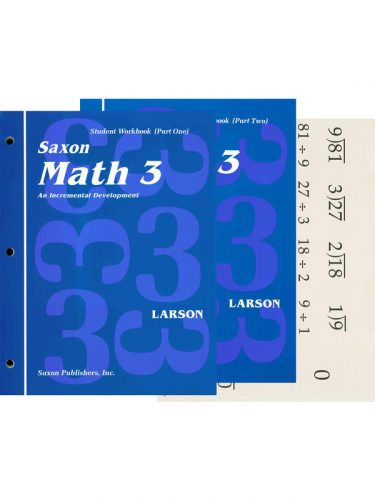 Saxon 3 Workbook/Fact Cards