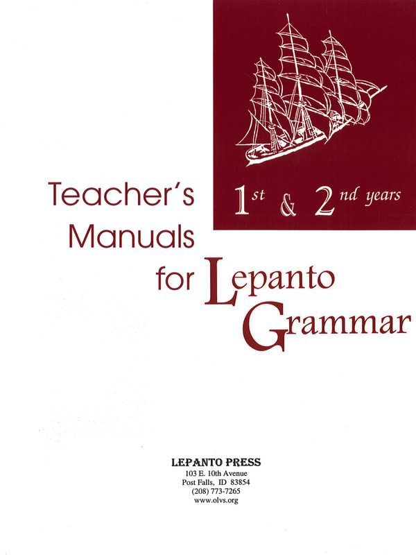 Lepanto Grammar 1 & 2 Teacher's Manuals