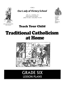 Lesson Plans - 6th Grade Religion