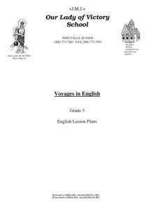 Lesson Plans - 3rd Grade Grammar