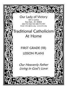 Lesson Plans - 1st Grade Religion