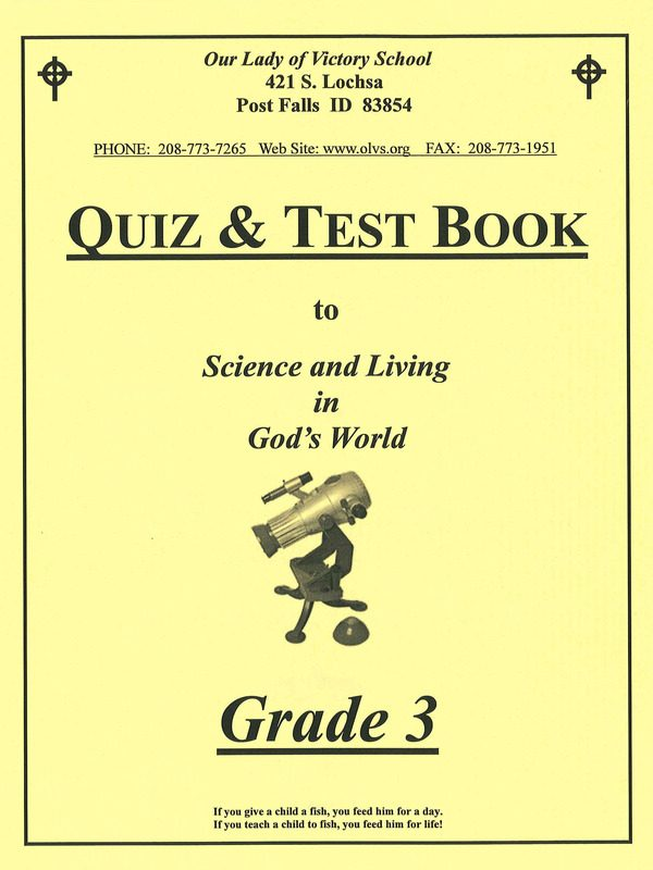 Science & Living in God's World 3 Quiz & Test Book
