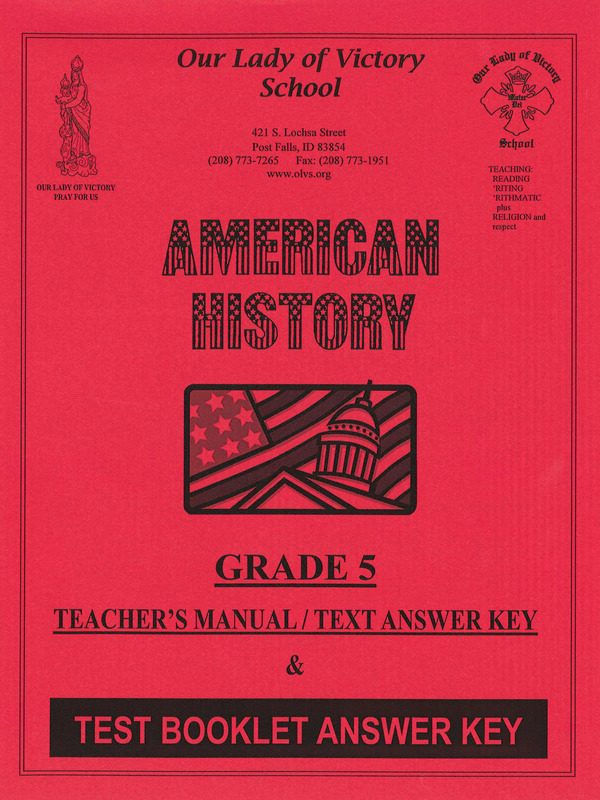 American History Manual & Answer Keys