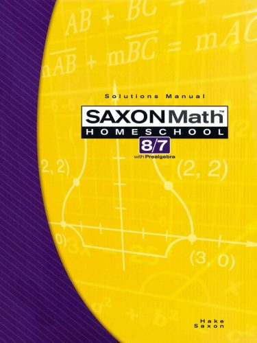 Saxon 8/7 Solution Manual