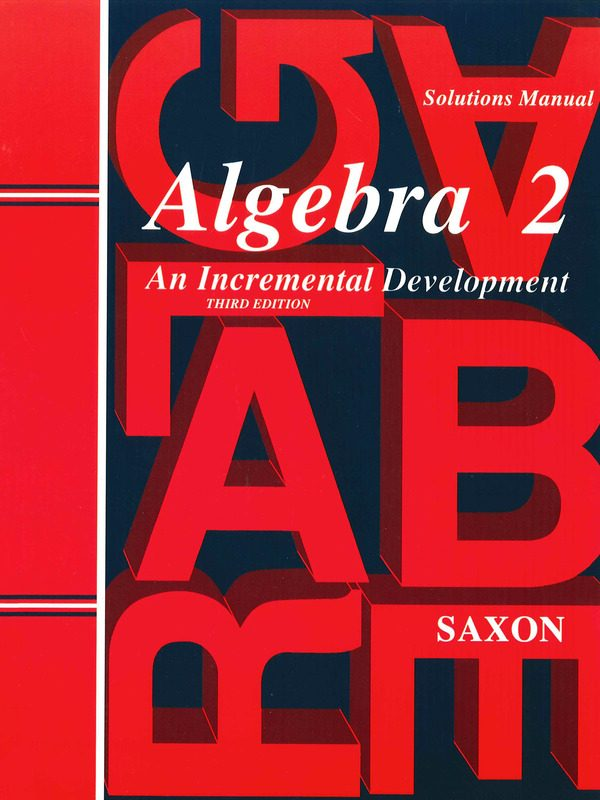 Saxon Algebra II Solutions Manual
