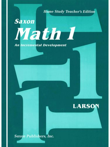 Saxon 1 Teacher Manual