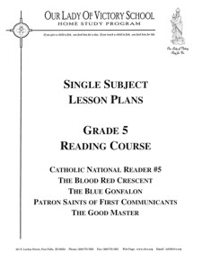 Lesson Plans - 5th Grade Reading
