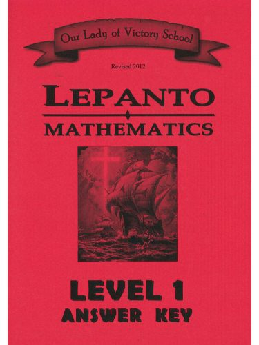 Lepanto Math Level 1 Answer Key