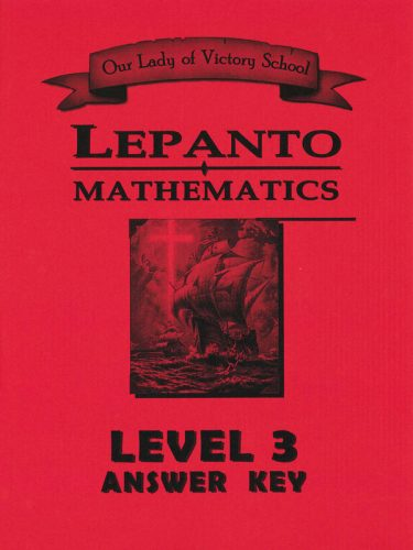 Lepanto Math Level 3 Answer Key