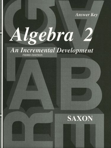 Saxon Algebra II Answer Key