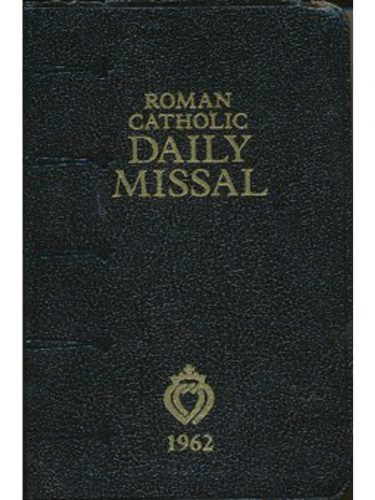 Roman Catholic Daily Missal (1962) Leather/NS