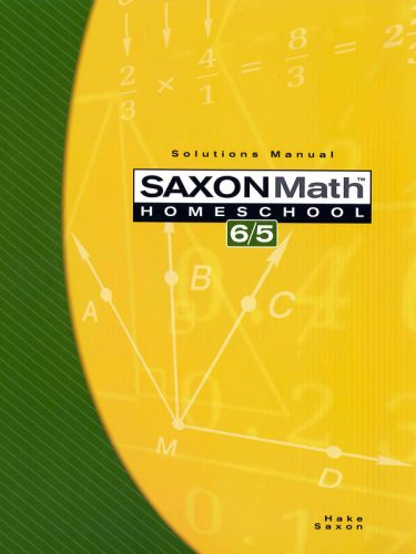 Saxon 6/5 Solution Manual