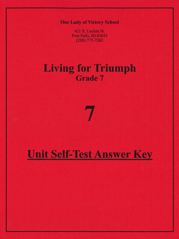 Living for Triumph Unit Test Answer Key