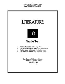 Lesson Plans - Literature II