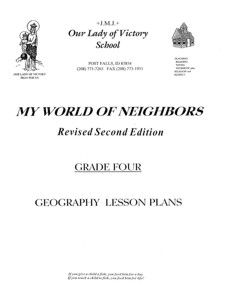 Lesson Plans - Grade 04 Geography (2007 revised)